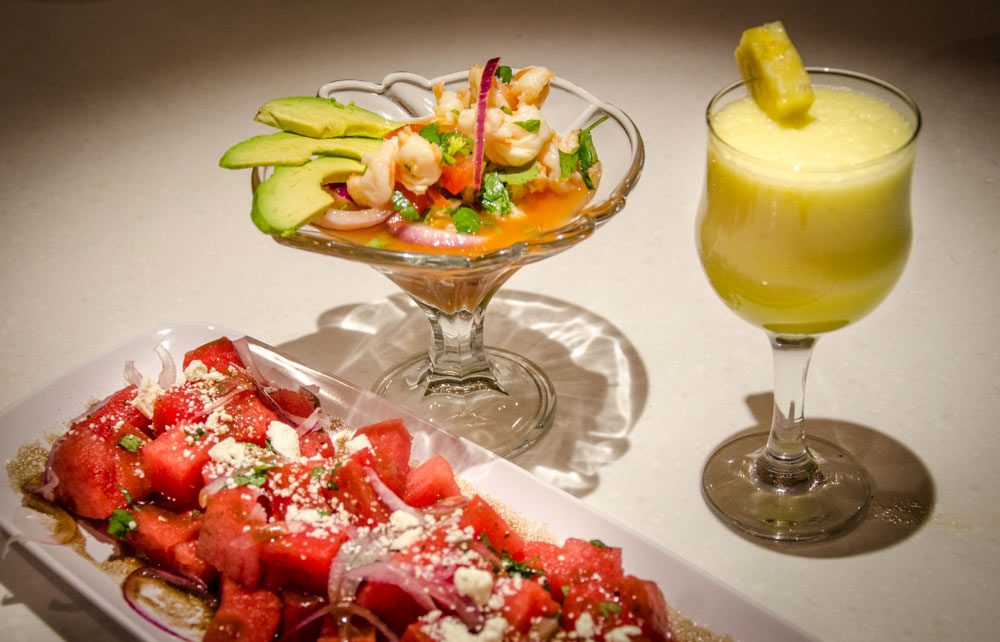 Shrimp-Ceviche-Martini_-Pineapple-Honeydew-with-Coconut-Water-Smoothie